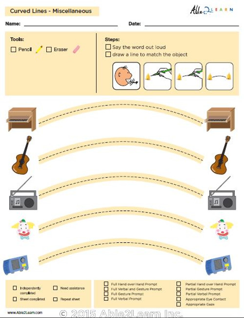 How To Draw Curved  Lines and Speech Development: Level 1: