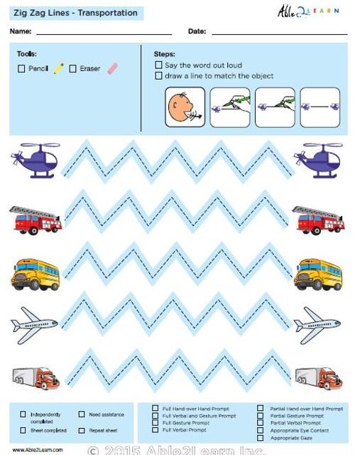 How To Draw Zig Zag Horizontal  Lines and Speech Development: Level 2:
