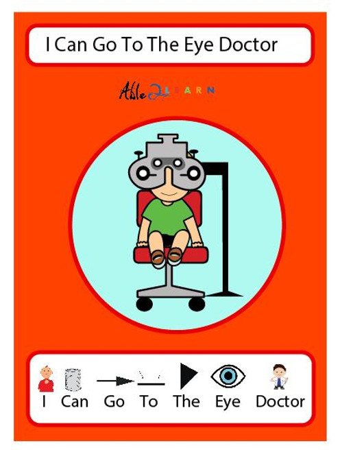 I Can Go To They Eye Doctor: SOCIAL STORY 23 PAGES