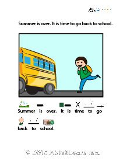 I Can Go Back To School: Social Story: Pages 11