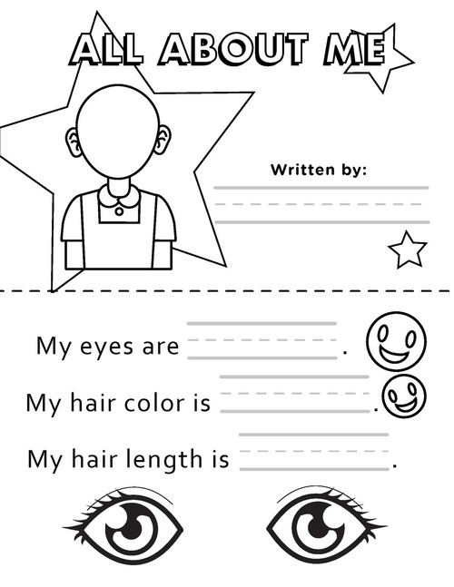 photograph relating to All About Me Printable Worksheets known as All With regards to Me - Position 2 - Publish upon My Particular
