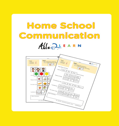 Free Home To School Communication Package for Autism or Special Needs Child at Able2learn.com