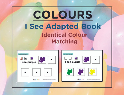 Free I SEE... Identify Identical Colours: Adapted Book Level ...