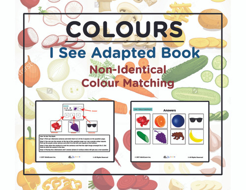 photo regarding Free Printable Resources for Autism called Cost-free I Check out Non Track down Very similar Colors: Tailored Reserve