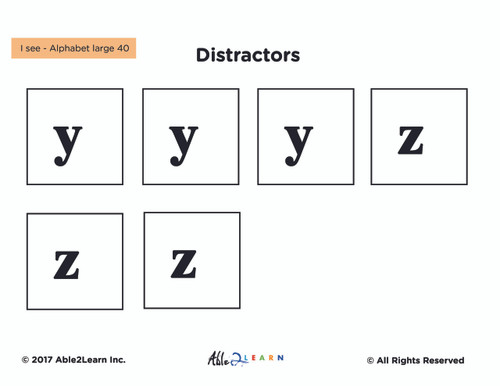 Free I SEE... Learn Lower Case Letters: Adapted Book Level