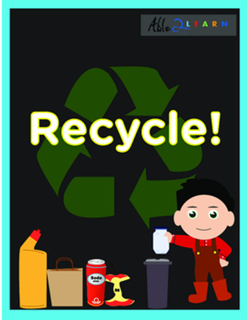 Free Autism Resources and Free ABA Resources in Social Studies Recycling Unit for Special Education Teachers for Earth Day
