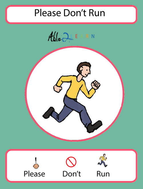please don't run, free social story, autism social story, free aba resources, free autism resources, free printable worksheets, autism school,