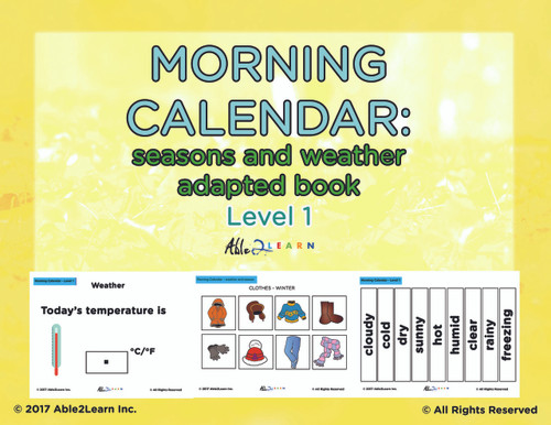 Free Morning Calendar: Days of Week, Months, Seasons and More ...