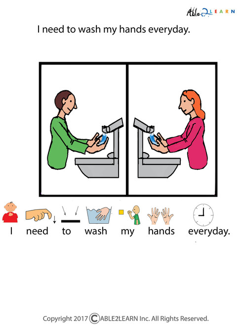 photograph regarding Free Printable Social Stories for Preschoolers identified as Absolutely free I Can Clean My Fingers Social Tale
