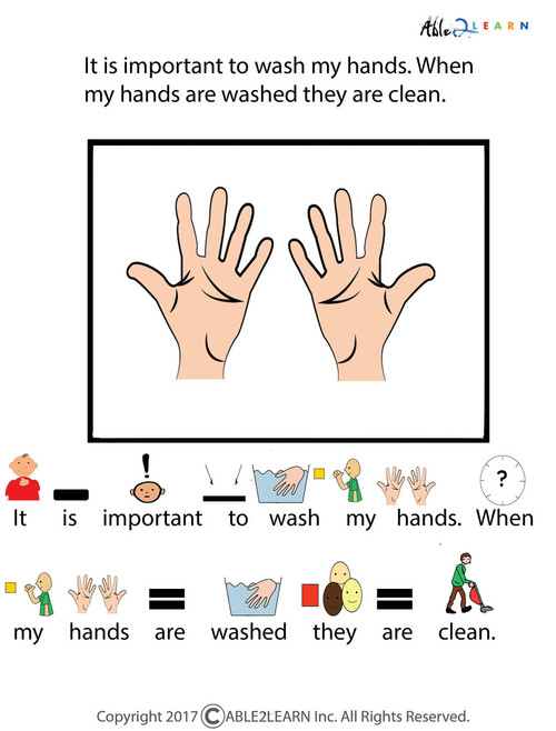 picture about Free Printable Social Stories for Preschoolers named Totally free I Can Clean My Fingers Social Tale