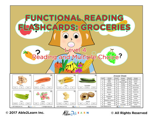 Life Skills Reading Grocery Flashcards Free Aba Resources life skills