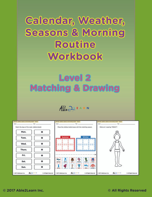 Morning Calendar Level 2:  Days of Week, Months, Seasons and More:  PAGES 98