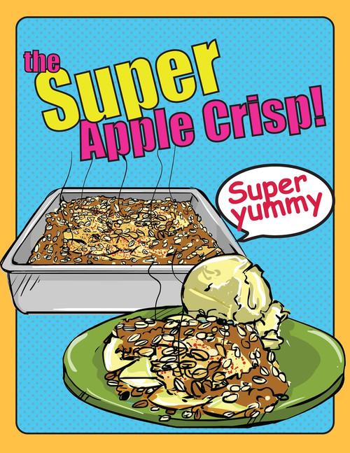 Apple Crisp, Starring Niam Jain Autism Artist: Visual Recipe: Step by Step: Pages 5
