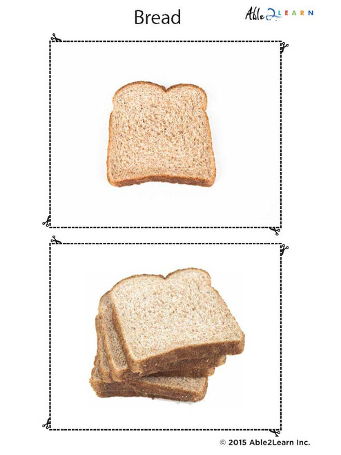 image relating to Vb Mapp Printable Materials named Meals Flashcards For ABLLS-R and VB-Mapp: Totally free Flashcards