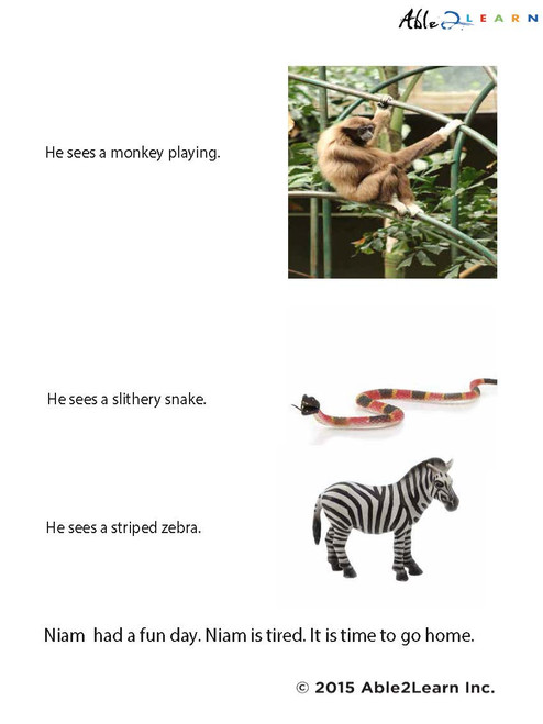 Niam Goes To The Zoo  Vocabulary Building: Pages 7