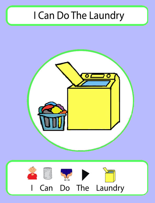 I Can Do The Laundry Social Story: Pages 16