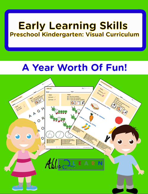 1 Year of Visual PreSchool Learning Mega Pack: Pages 761