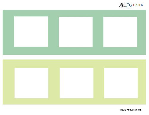 Blank Speech  Strip- 3 Piece Card - 5 Pages