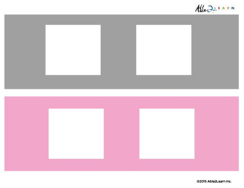 Blank Speech Exchange Strip- 2 Piece Card - 5 Pages
