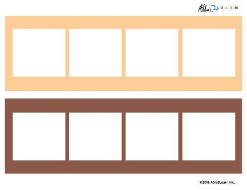 Blank Speech Exchange Strip- 4 Piece Card - 5 Pages
