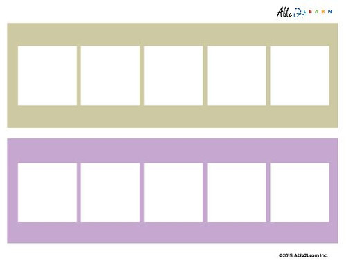 Blank Speech Exchange  Strip- 5 Piece Card - 5 Pages
