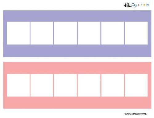 Blank Speech Exchange Strip- 6 Piece Card - 5 Pages