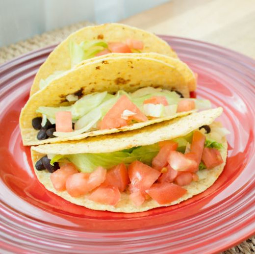 Taco With Beans Lettuce , Tomato and Cheese Visual Recipe And Comprehension Sheets: Pages 30