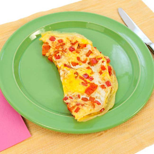 Pepper Omelette Visual  Recipe And Comprehension Sheets: Pages 24