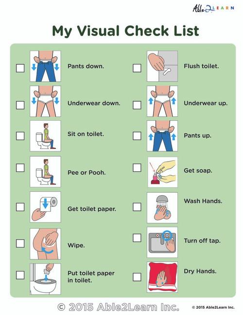 My Washroom Visual Checklist :1 Page