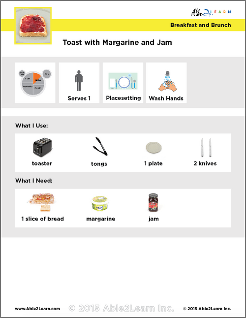 Toast With Margarine and Jam