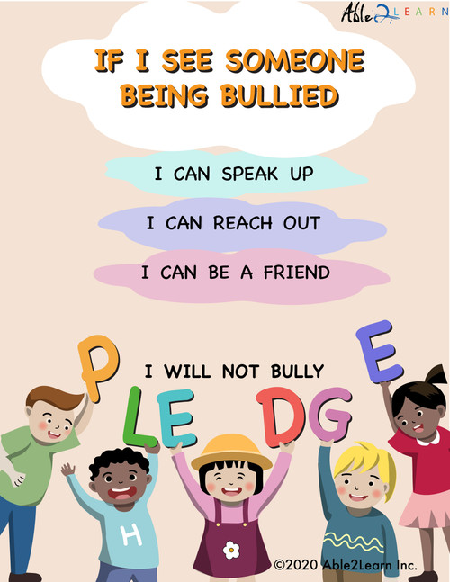 I Am Against Bulling Pledge_autism bullying_mental health_autism mental health Kit_able2learn_1