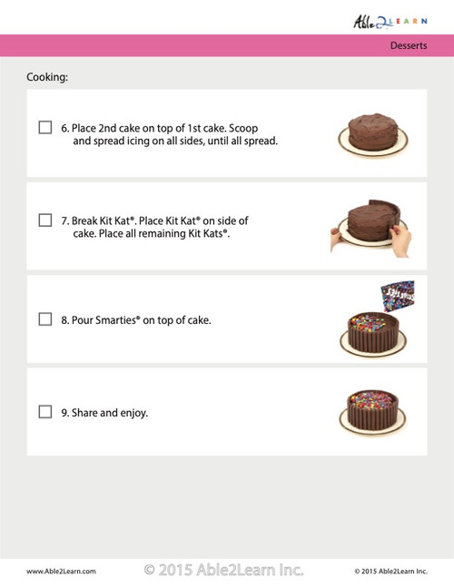 Kit Kat Cake: Step By Step Visual Recipes: Pages 7