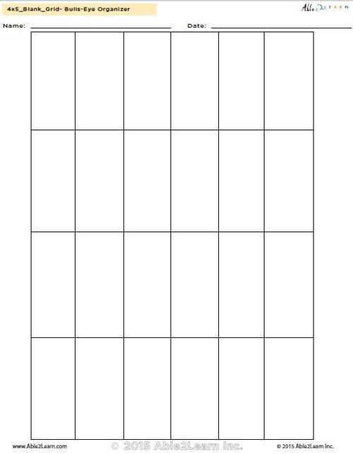 4 x 5 blank grid template able2learn inc