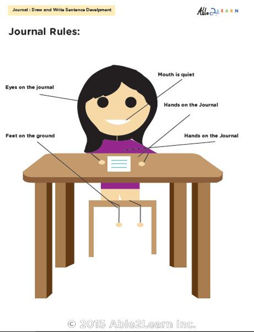 Draw And Write Journal - Girls Version