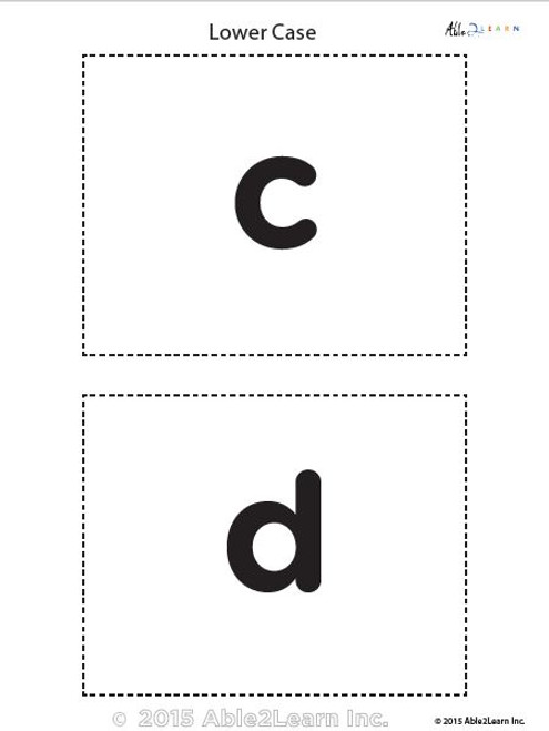 Lower Case Alphabet Flash Cards - Able2learn Inc