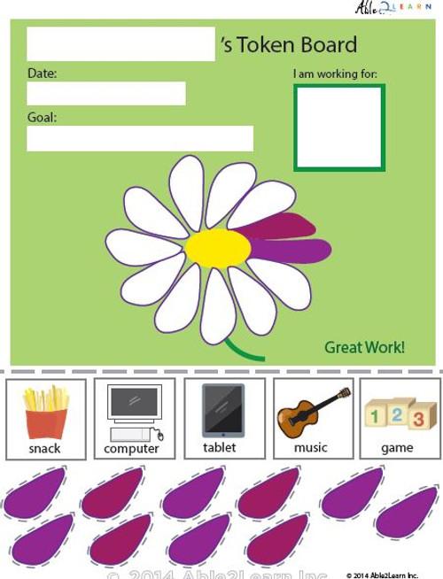 Token Board - Creative Flower - 10 Tokens