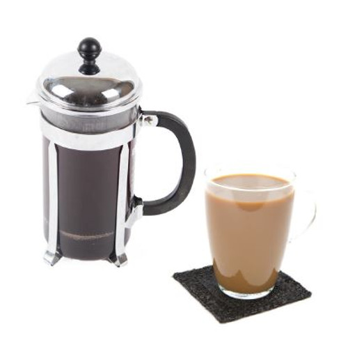 Coffee and Milk (French Pressed) Visual Recipe & Comprehension Sheets: 20 Pages