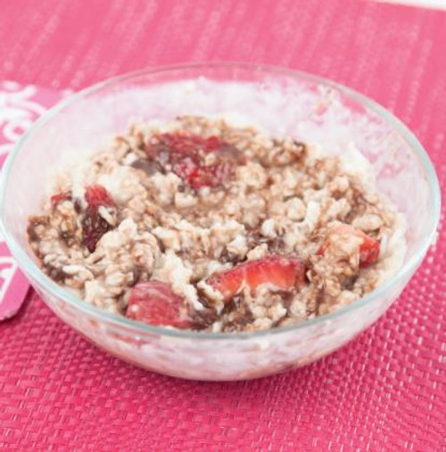 Chocolate Coconut & Strawberry Oatmeal Microwave with Milk Visual Recipe  & Comprehension Sheets: 22 Pages