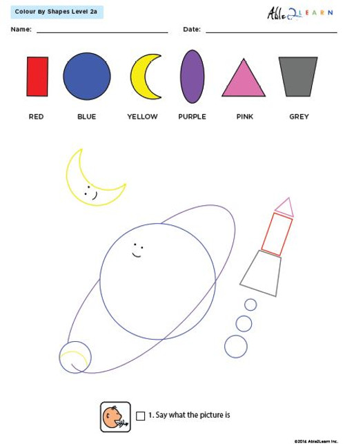 Colour By Shapes Level 2 Workbook: 51 Pages