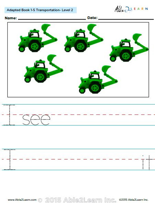 Transportation Adaptive Book Counting  1 - 5 (LV. 2) -19 Pages