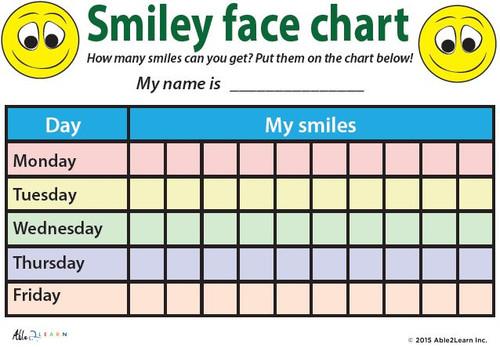 Token Board Rewards System Smiley Face