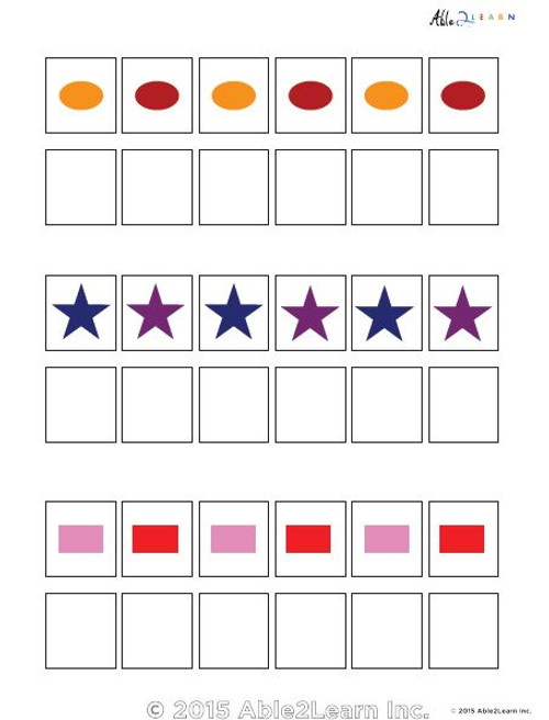 Learn Patterns with Pattern Strips- 6 Pieces - ABAB  Pages 5