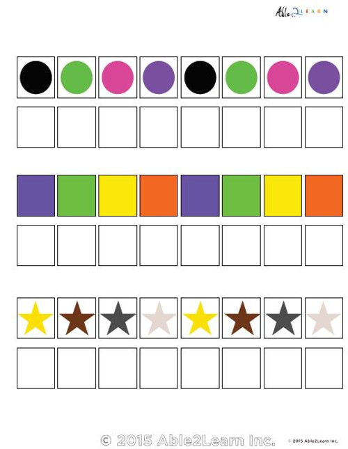 Learn Patterns with Pattern Strips- 8 Pieces - ABCDABCD  Pages 5