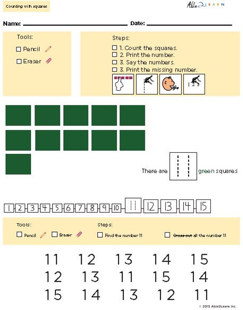 Learn Counting Numbers 11-20 With Visual Discrimination- Pages  10
