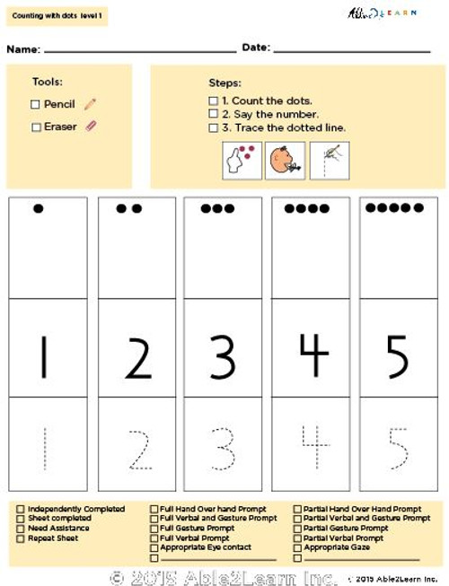 Learning To Count With Dots: 1-5 : Page 1