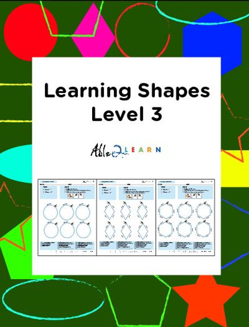 Learn To Identify & Draw Shapes: Level 3: 12 Pages