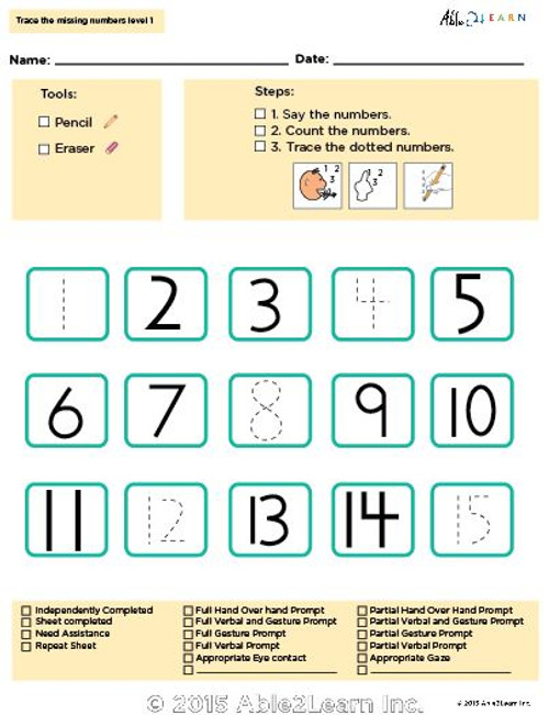 Learn Counting Numbers 1-100 Level 2- Pages 9