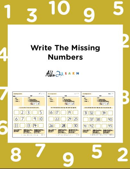 Learn Counting Numbers 1-100 Level 3- Pages 9