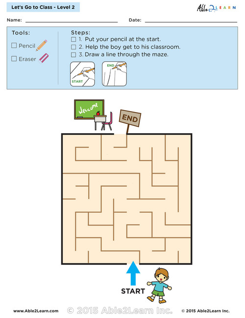 Let's go to Class Maze Lv. 2 - 1 Page