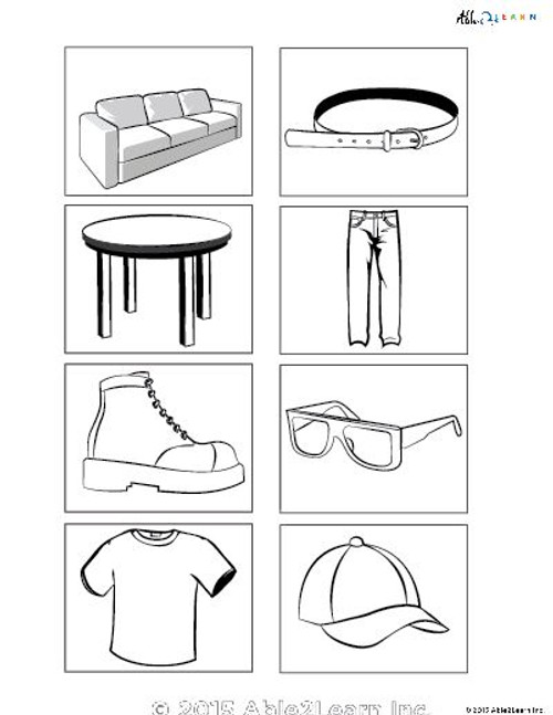 Matching Black & White Pictures Fluency: 8 Pages